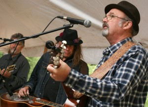 Wheatland Music Festival 2015 Charlie Walmsley at the Song Tent with Mark Schrock and Drew Howard